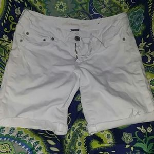 White American Eagle Stretch Shorts